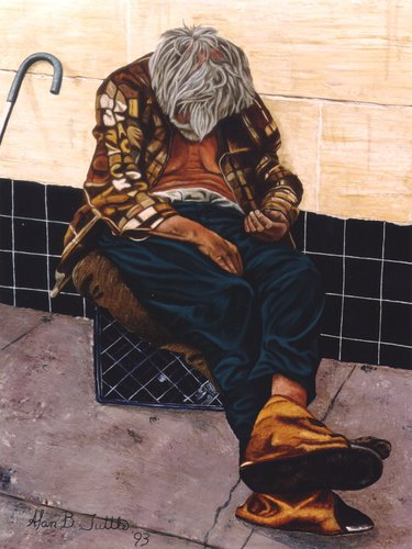 Homeless 1   Oil on Canvas   36 x 48