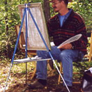Alan painting Artists in the Garden Gazebo.jpg