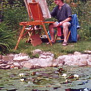 Alan painting Artists in the Garden Lillies.jpg