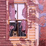 Windows Series, Dog   Oil on Canvas   12 x 16.jpg