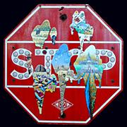 Windows Sign Series, Stop   Oil on Stop Sign   24 x 24.jpg